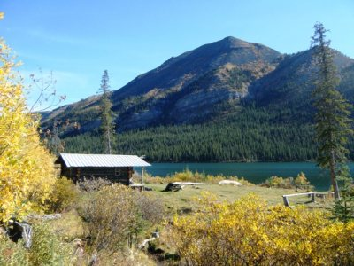... cabin on a BC Rocky Mountain lake!