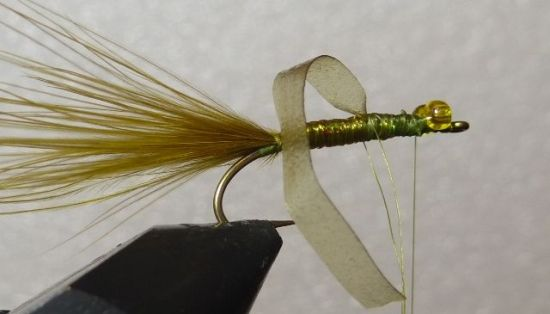 ... tying in the wing case on the Stump lake daselfly nymph fly pattern!
