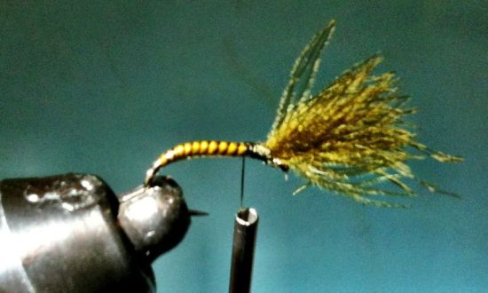 Olive Shuttlecock Emerger Fly