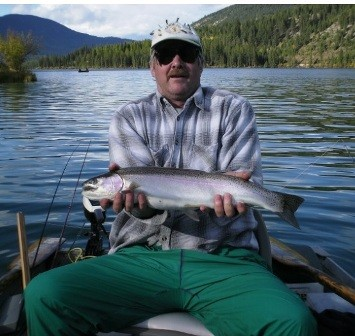 A Wonderful Whitetail Lake Fishing Vacation - big rainbow trout!