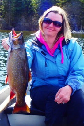 ... beautiful brook trout on a Producer Chironomid Pupa Fly!
