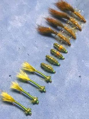 Triple Threat Olive Leech Damselfly & Scud Pack
