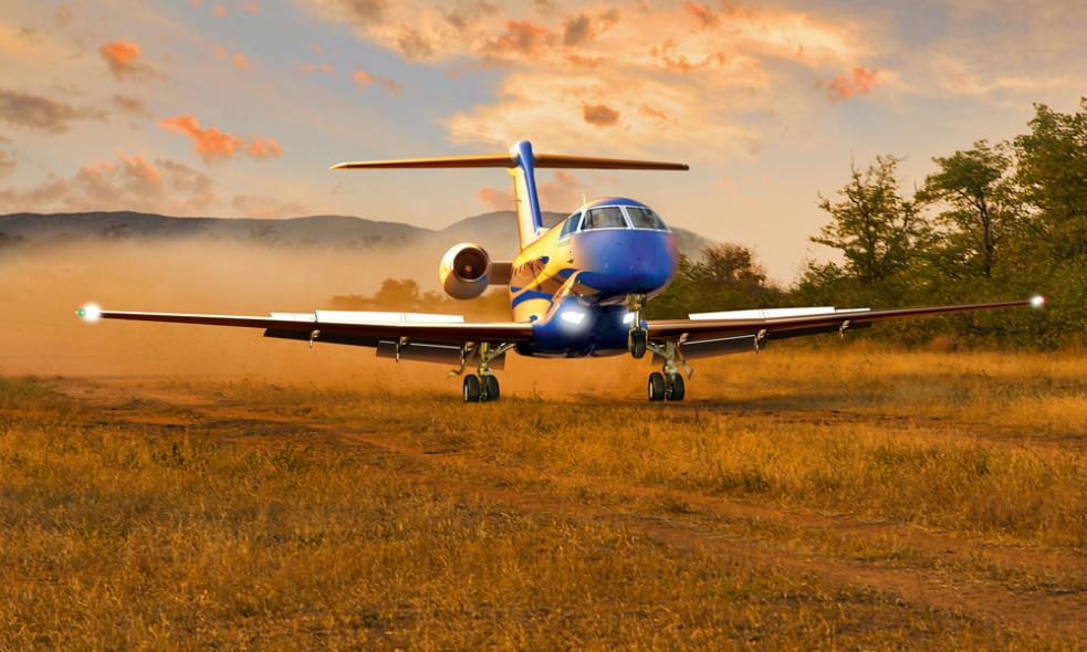 Pilatus PC-24 Grass Landing