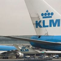 KLM B747 AND B787 GROUND COLLISION AT AMSTERDAM AIRPORT