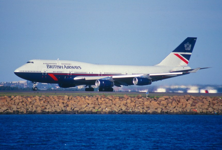 British Airways 747 Landor livery.