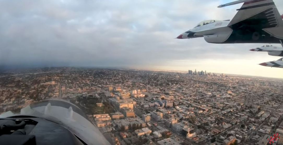 USAF Thunderbirds Flyover Hollywood