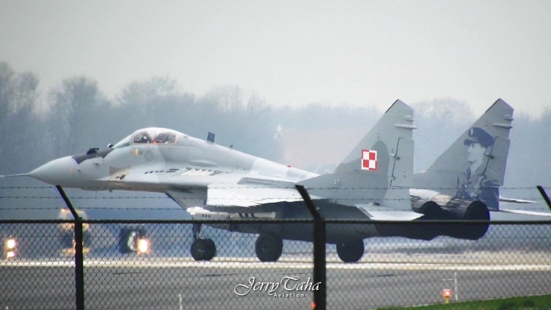 2 POLISH MIG-29s during Frisian Flag