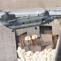 VIDEO - RAF CHINOOK DEPLOYED TO HELP 'CRITICAL' WHALEY BRIDGE DAM