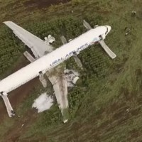 URAL AIRLINES AIRBUS A321 CRASH LANDED IN CORNFIELD DUE TO MASSIVE BIRD STRIKE