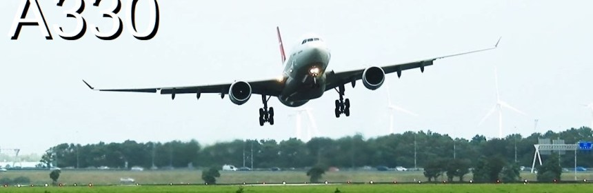 Turkish Airlines A330 Go Around and Landing at Amsterdam Airport Schiphol