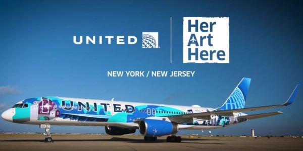 United B757 'Her Art Here' Livery - © United
