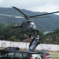 INDONESIAN Mi-35 HELICOPTER COLLIDED WITH A CAR DURING A FAILED TAKEOFF