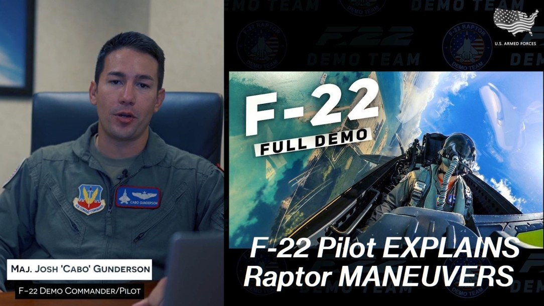 F-22 Demo Team Pilot reacts to video