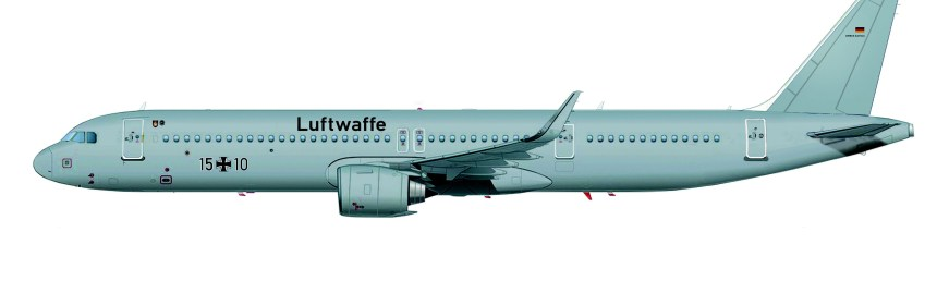 AIRBUS HAS CONFIRMED GERMAN AIR FORCE ORDER FOR 2 MILITARY A321LR AIRCRAFT