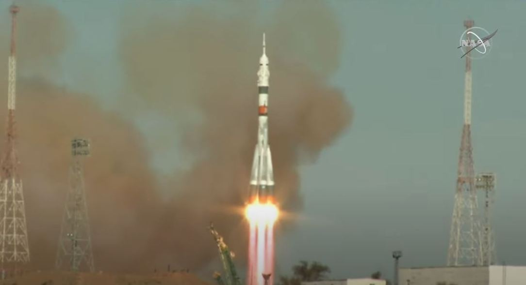VIDEO - RELIVE THE LAUNCH OF THREE NEW CREW MEMBERS TO THE INTERNATIONAL SPACE STATION