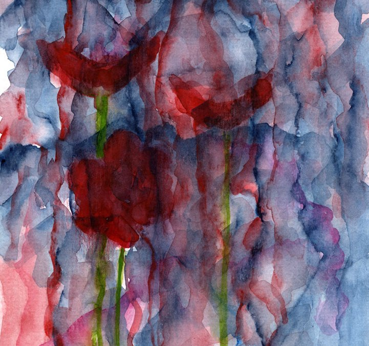Abstract poppies