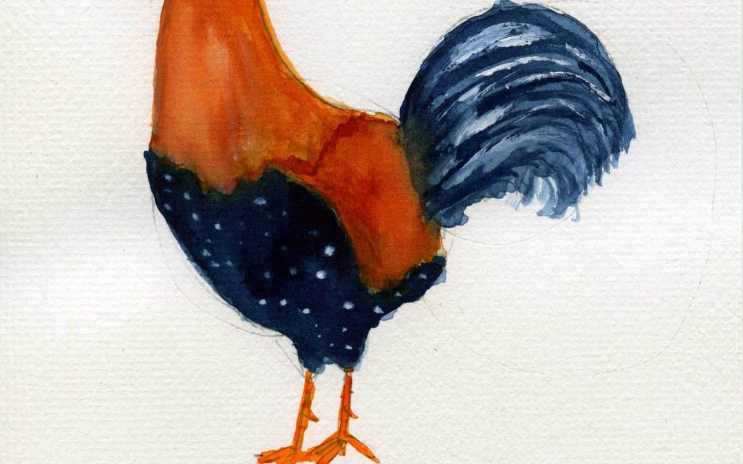 Rooster – Daily painting #462 (SOLD)