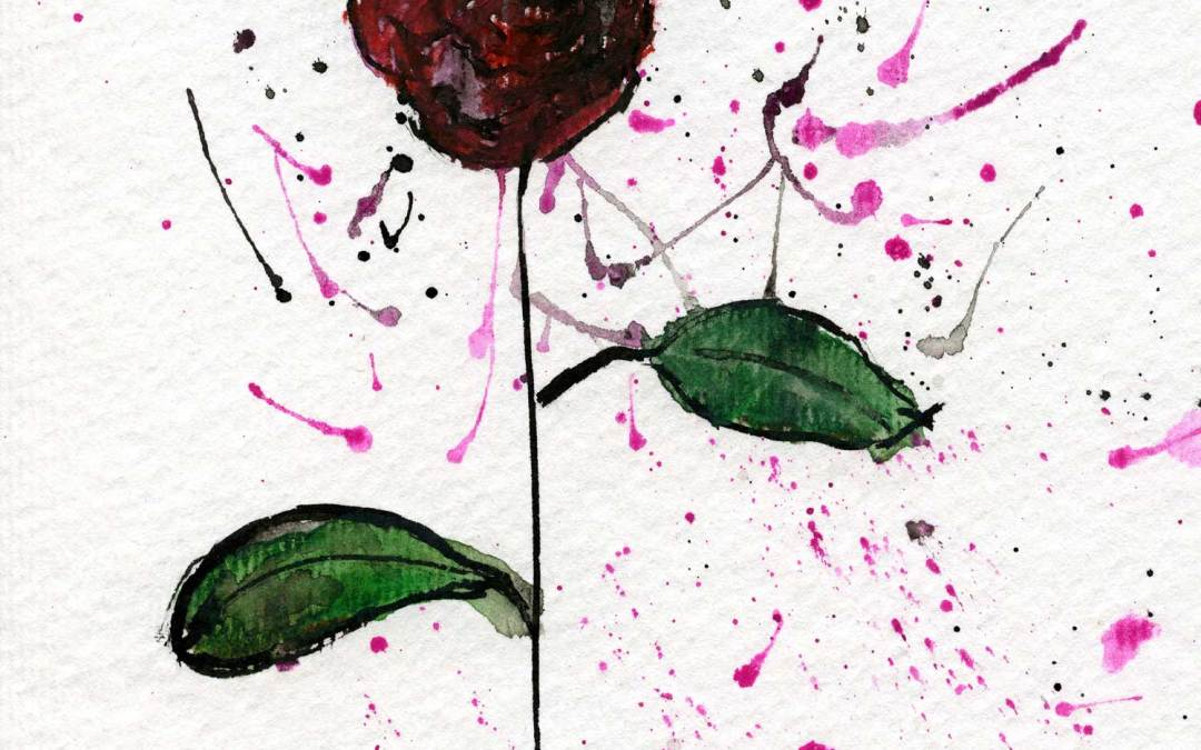 Red Rose – Daily painting #498 (SOLD)