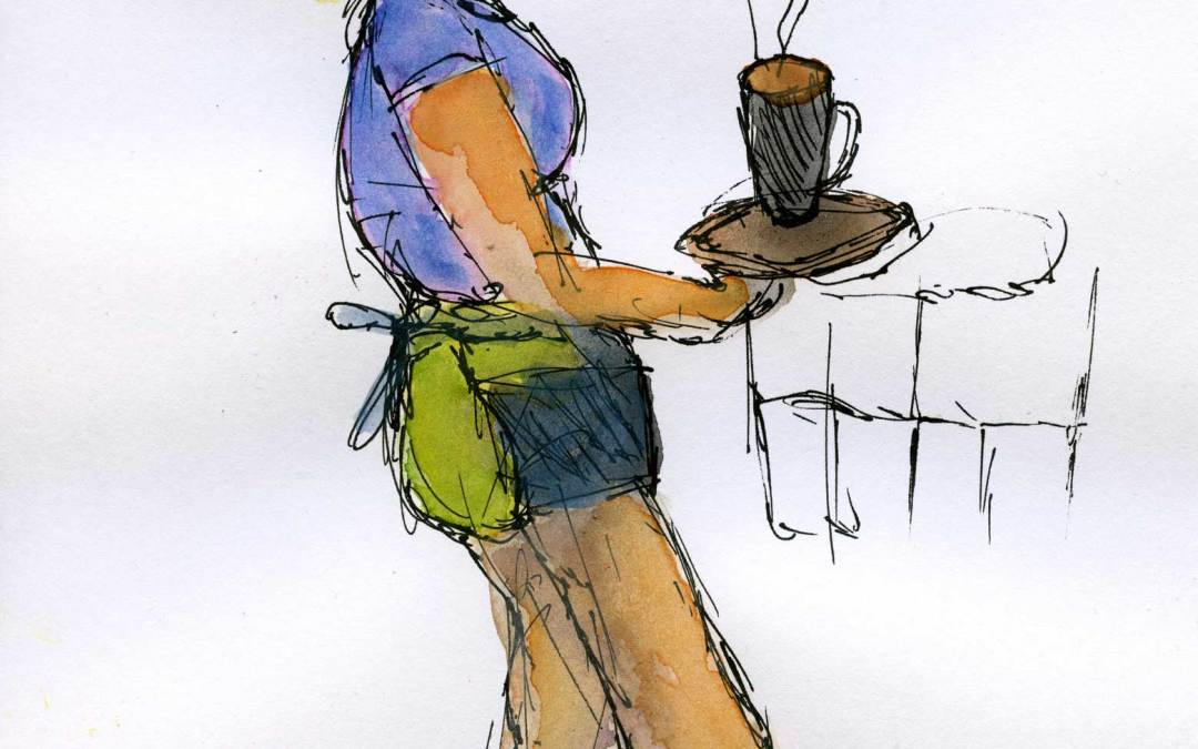 Waitress – Daily painting #497 (SOLD)