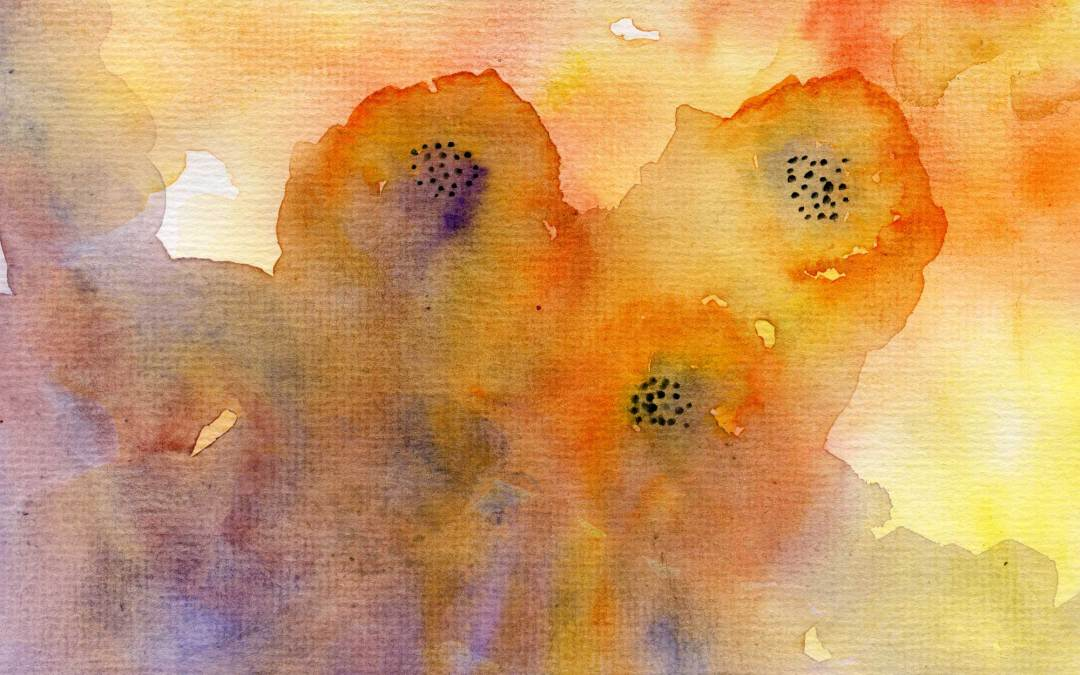 Orange Flowers – Daily Painting #524 (SOLD)