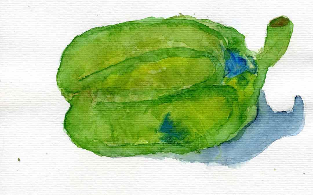 Green pepper – Daily painting #545 (SOLD)