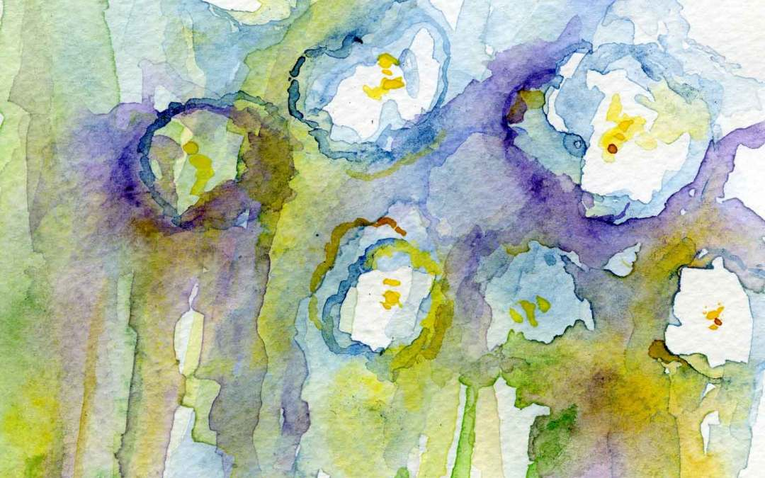 Wild Flowers – Daily Painting #600 (SOLD)
