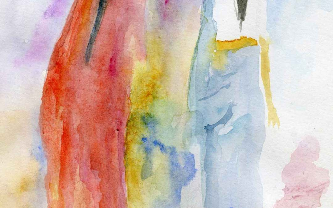 Two women – Daily painting #624