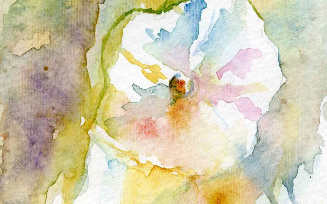 Hollyhock Series #3 – Daily painting #630 (SOLD)