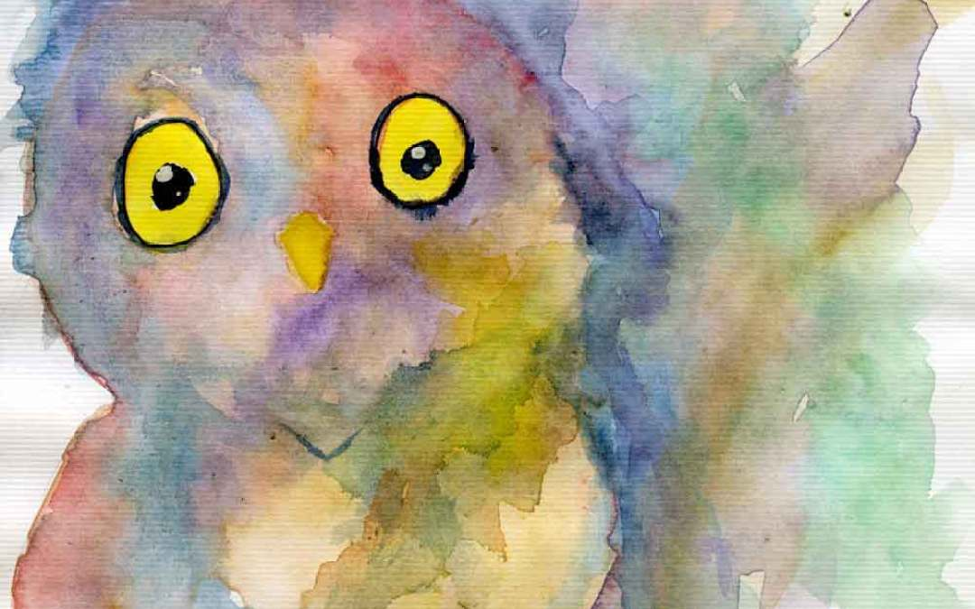 Owl #6 – Daily painting #698 (SOLD)