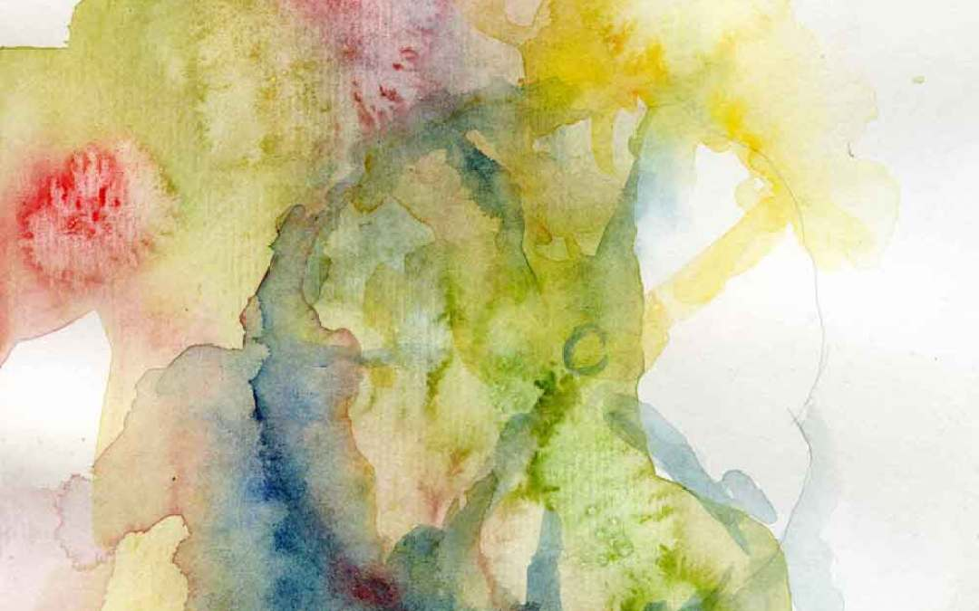 Hollyhock Series #10 – Daily painting #701 (SOLD)