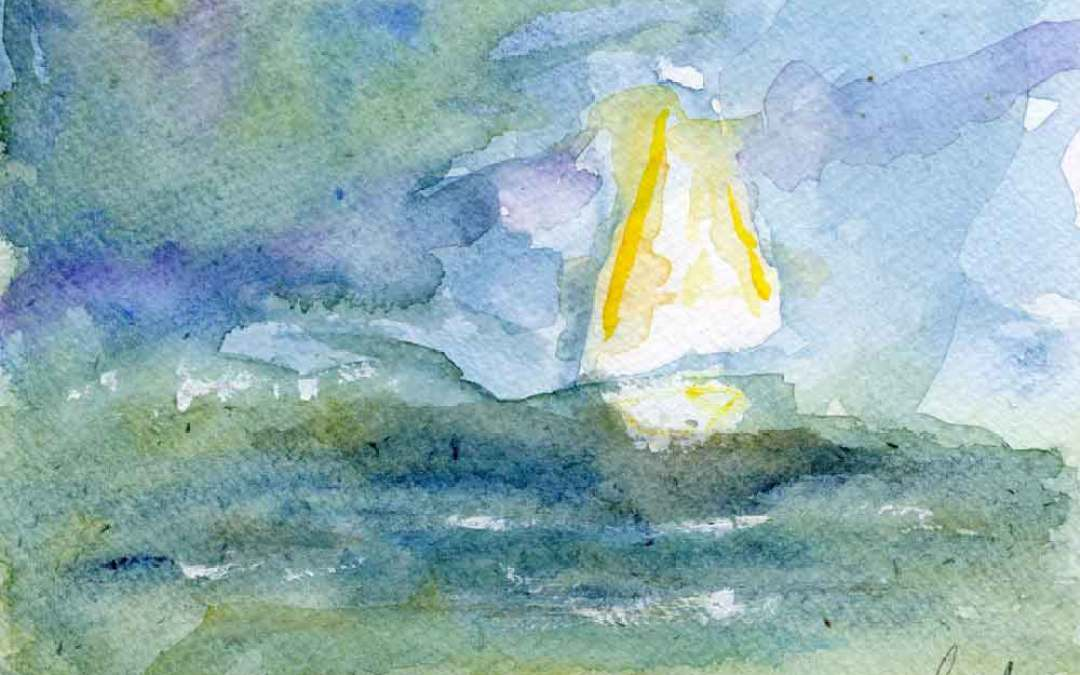 Boat at sea #3 – Daily painting #754 (SOLD)
