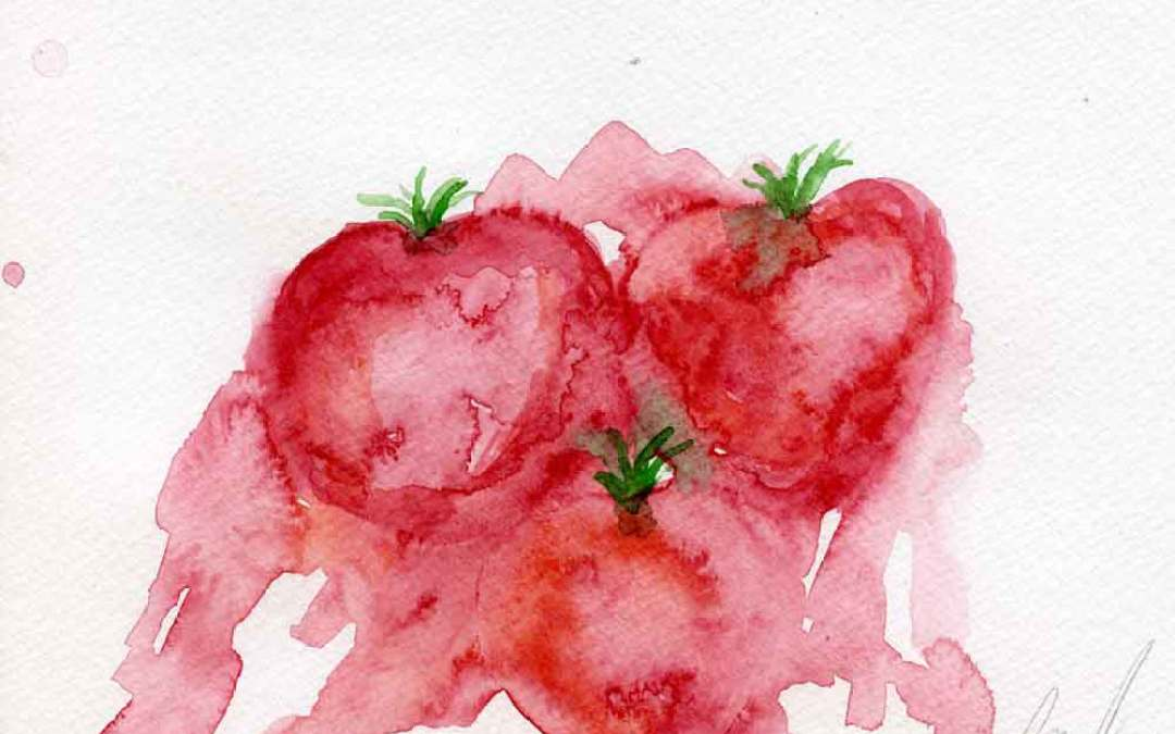 Three tomatoes #2 – Daily painting #776