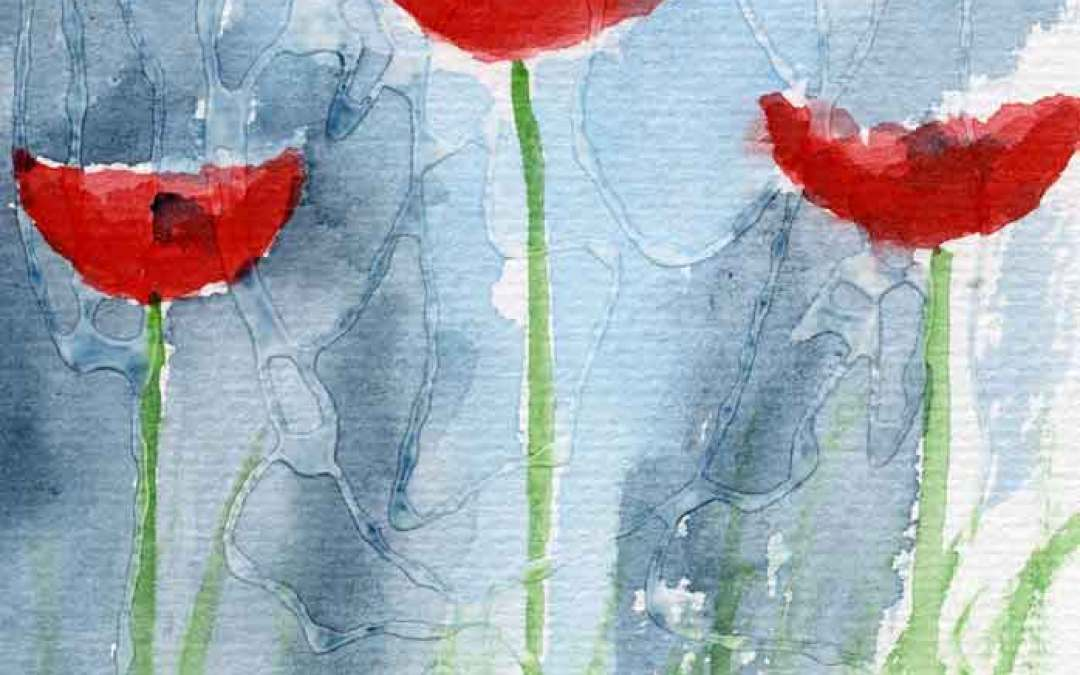 Three poppies – Daily painting #783 (SOLD)