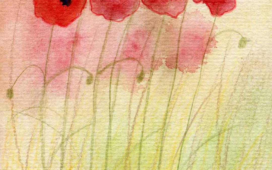 Abstract poppies – Daily Painting #851 (SOLD)