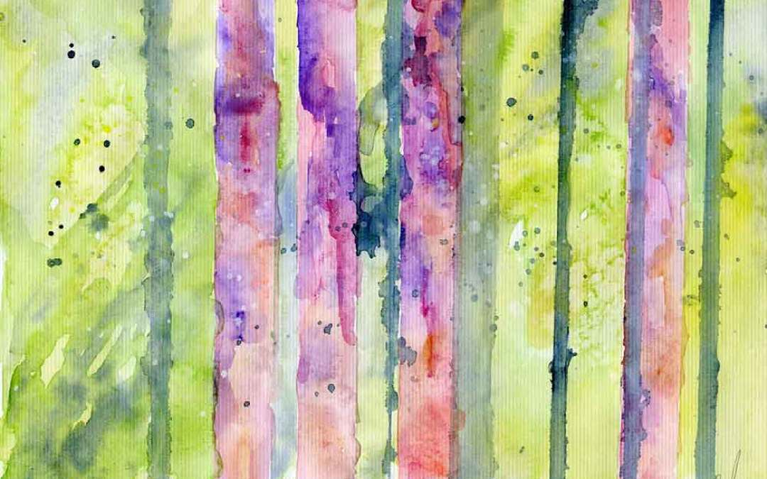 Abstract trees – Daily painting #858