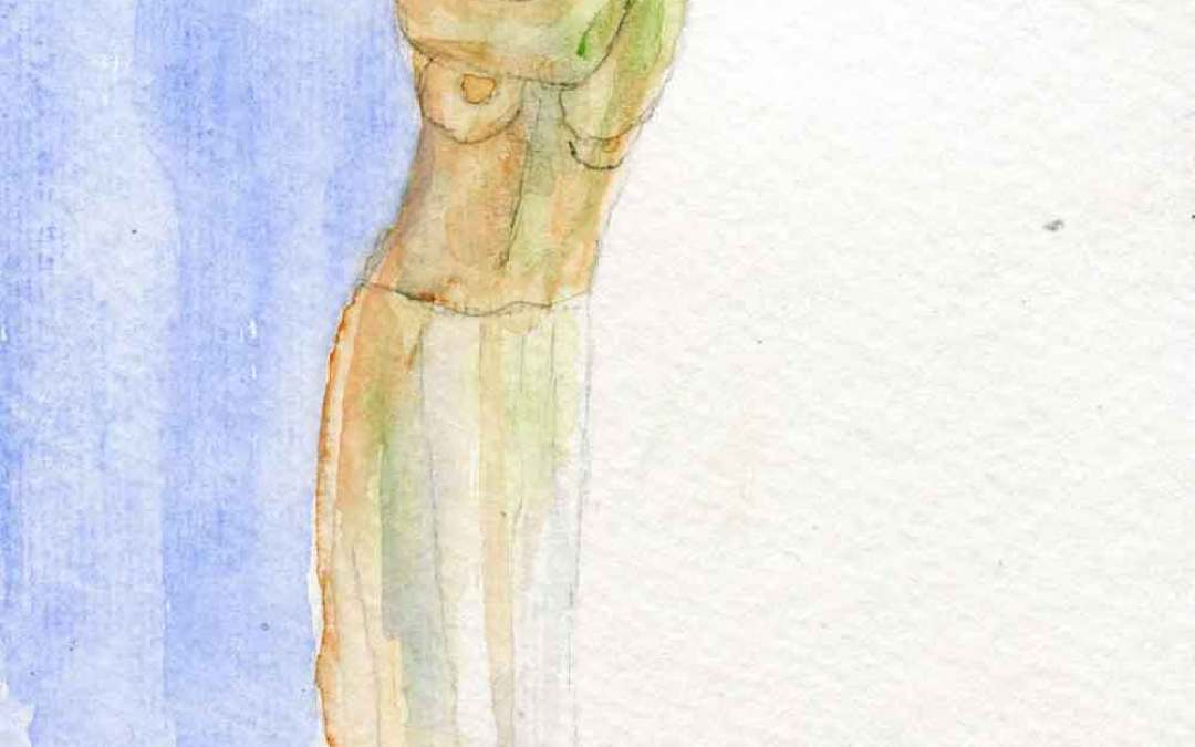 Standing nude – Daily painting #895