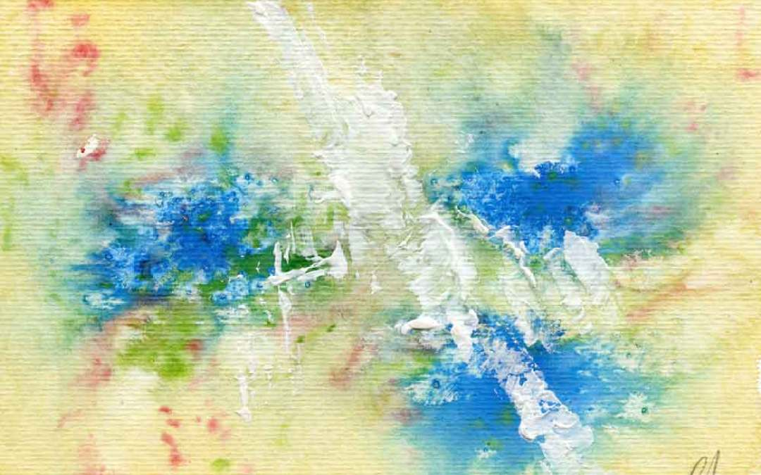 Blue and yellow – Daily painting #935