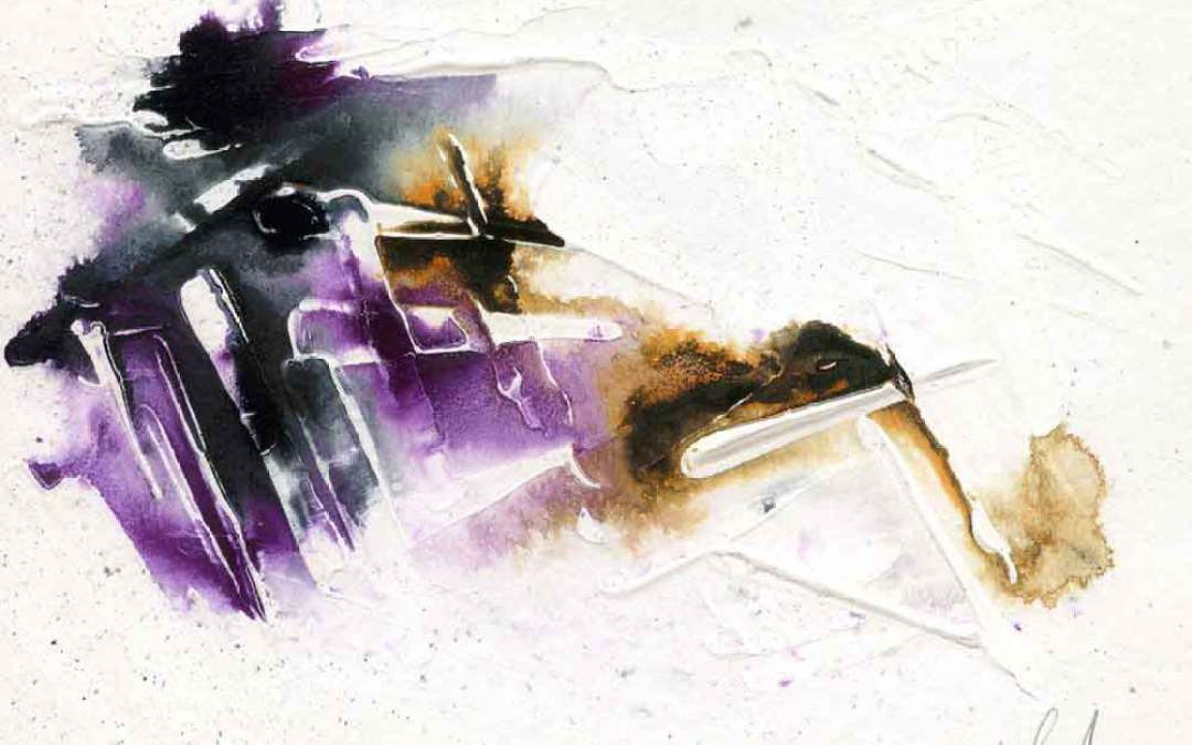 Black and purple Abstract – Daily painting #970