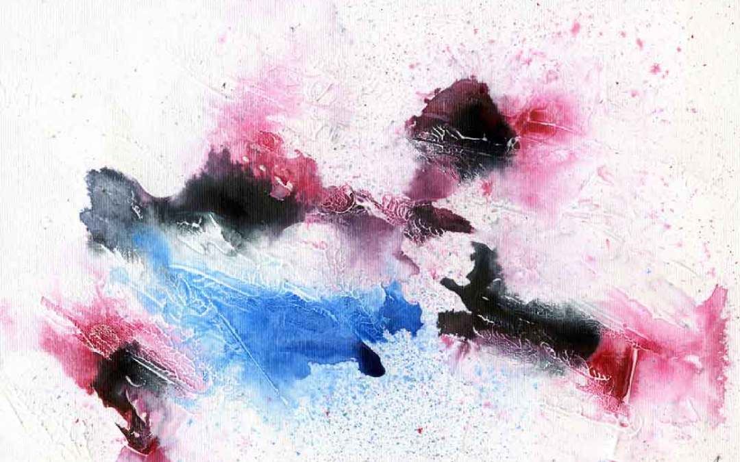Pink, black and blue abstract – Daily painting #1093