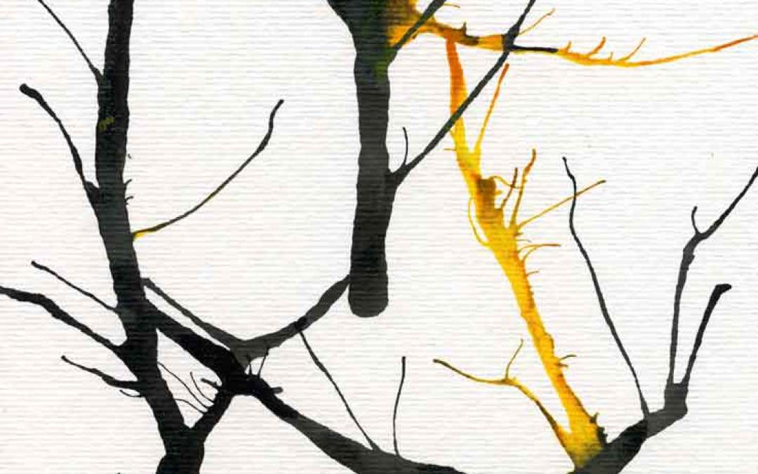 Abstract Trees – Daily pianting #1109 (SOLD)