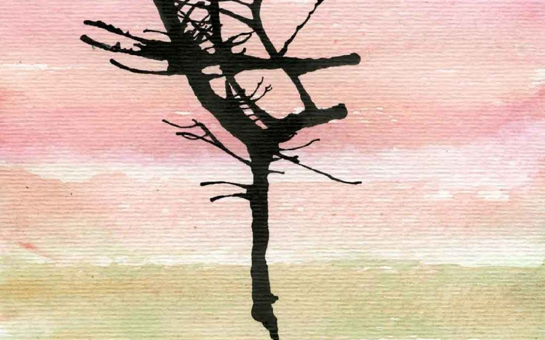 Sunset tree – Daily painting #1127 (SOLD)