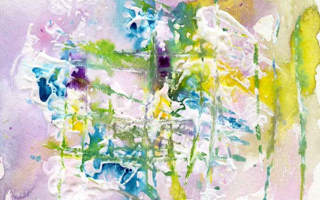 Yellow and blue abstract – Daily painting #1133