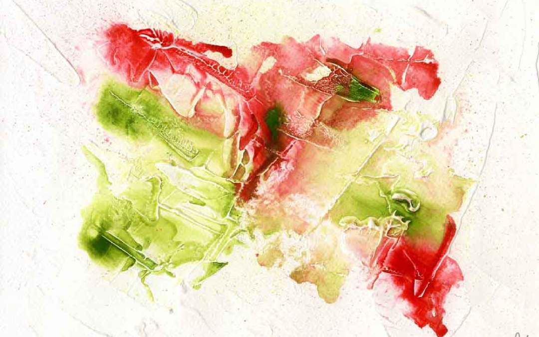 Red and green abstract – Daily painting #1139