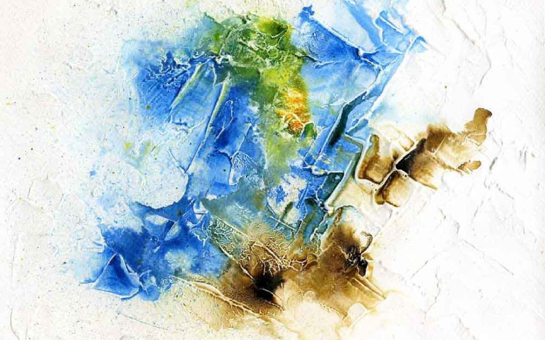 Blue and brown abstract – Daily painting #1141