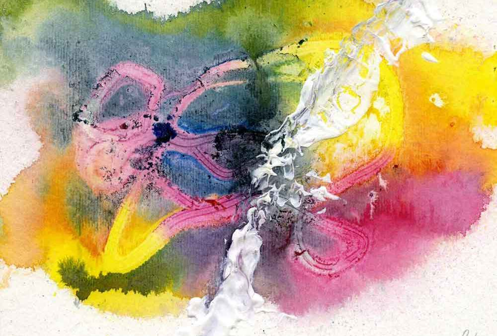 Rainbow abstract – Daily painting #1150