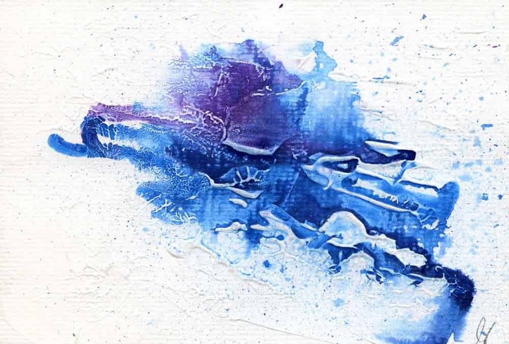 Blue and purple abstract – Daily painting #1168