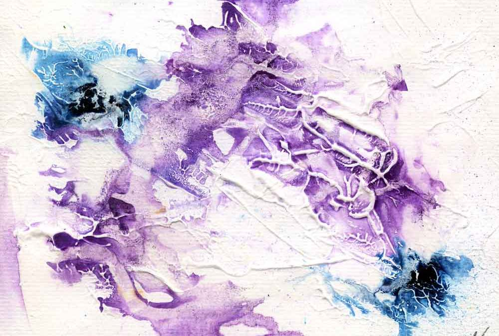 Purple and blue abstract – Daily painting #1193