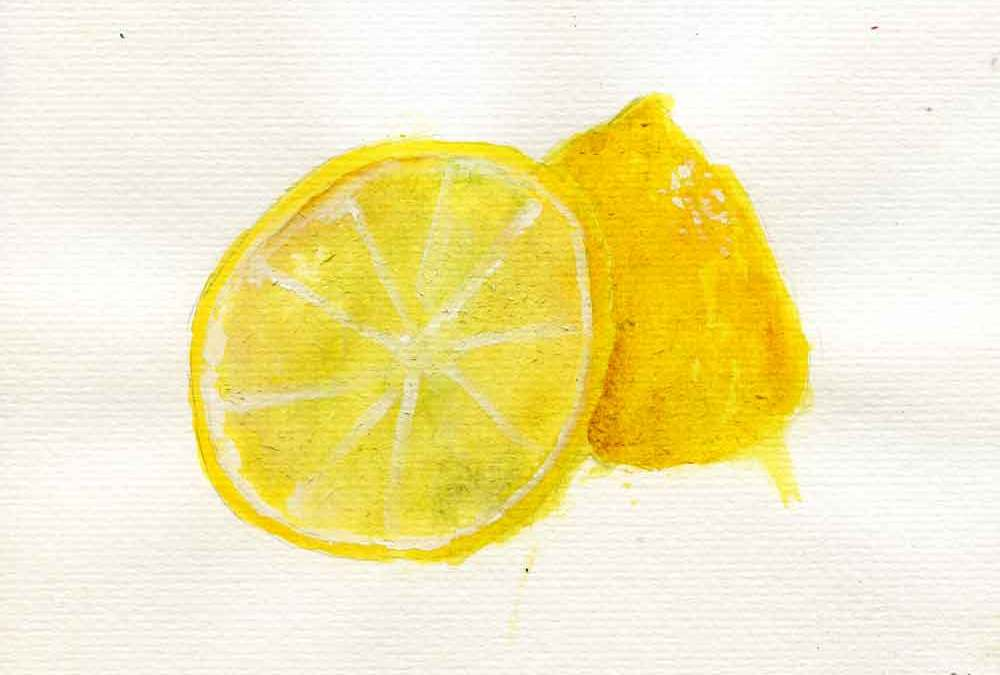 Lemon in two halves – Daily painting #1207