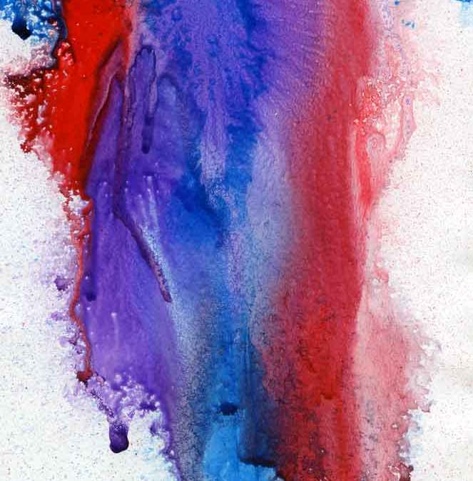 Red and blue abstract – Daily painting #1219