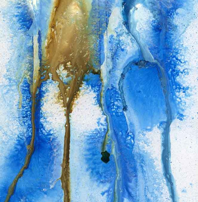Blue and brown abstract – Daily painting #1220